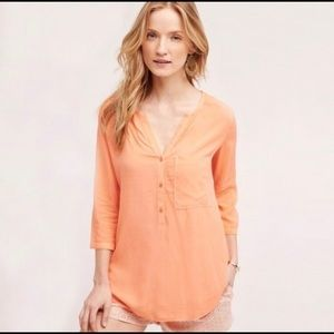 Anthro Cloth & Stone West Coast Henley Tunic Top M